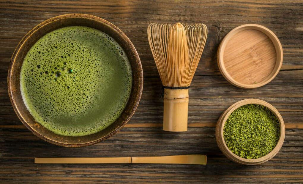Чай матча + бамбуковый венчик