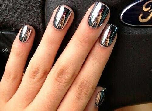 Зеркальные наклейки на ногти