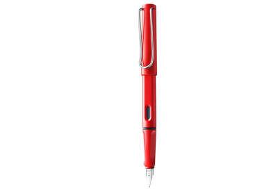 Lamy Ручка перьевая Safari цвет корпуса красный, красные чернила