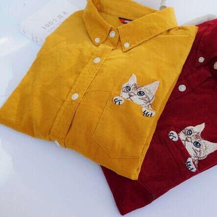 Вельветовая рубашонка с котаном