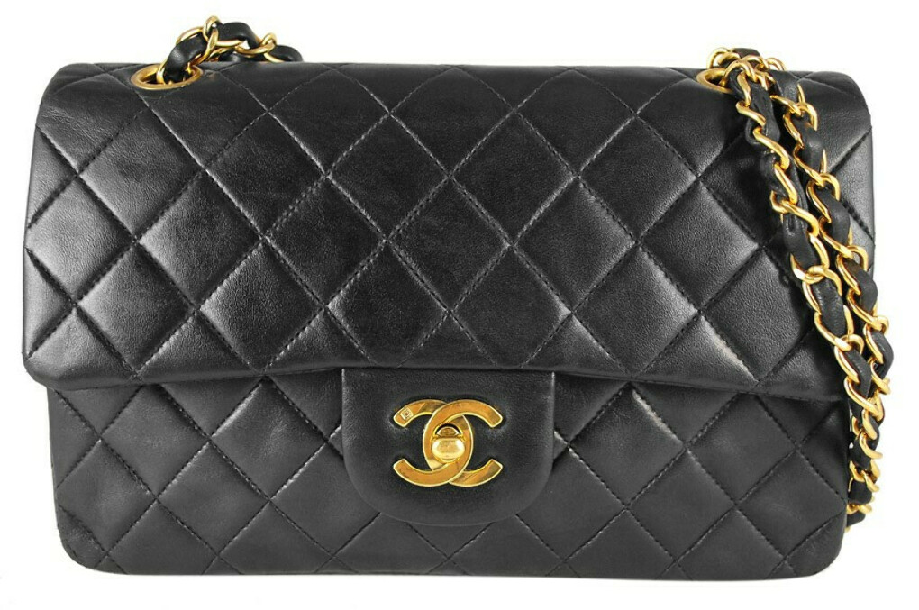 Chanel Black Quilted Lambskin Medium 2.55 Double Flap Shoulder Bag