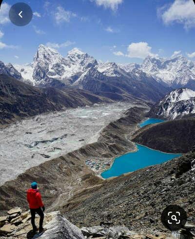 Штурмовать базовый лагерь Эвереста через озеро Гокио😱🙉