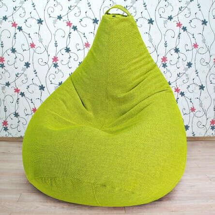 Кресло-груша зелёное
