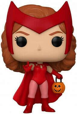 Фигурка Funko POP Marvel: Wanda / Vision – Halloween Wanda Bobble-Head (9,5 см)
