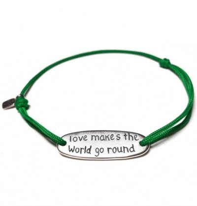 Веревочный браслет Amorem Любовь заставляет мир вращаться