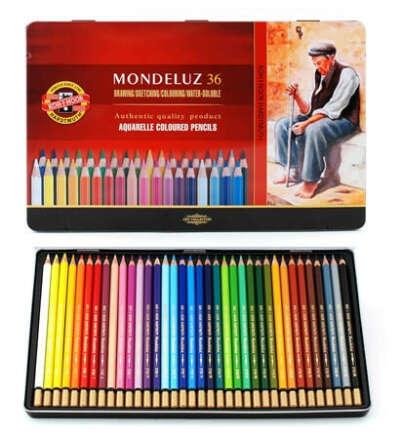 Акварельные карандаши в жестяной коробке