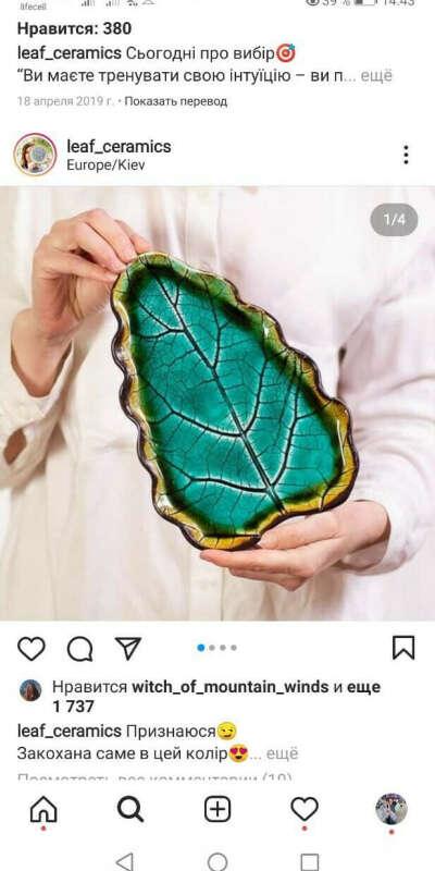 Большие тарелки листья
