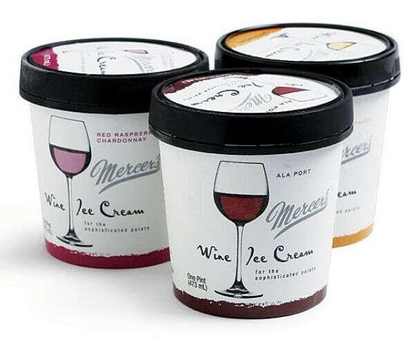 Винное мороженое