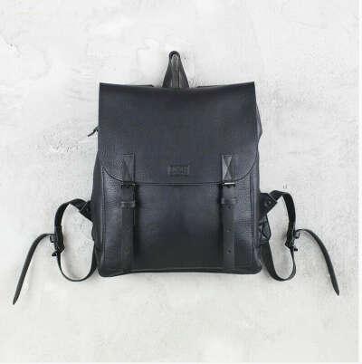 САМЫЙ ЖЕЛАННЫЙ Черный кожаный рюкзак Nikita Virronen