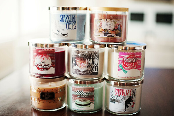 CANDLES FROM BATH & BW