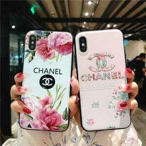 CHANEL アイフォンXS MAXケース 花柄 シャネル風 iphone xrカバー 可愛い iphone x/xsケース レディース向け 耐衝撃 iphone 8/7/6 plusケース スマホケース ブラント