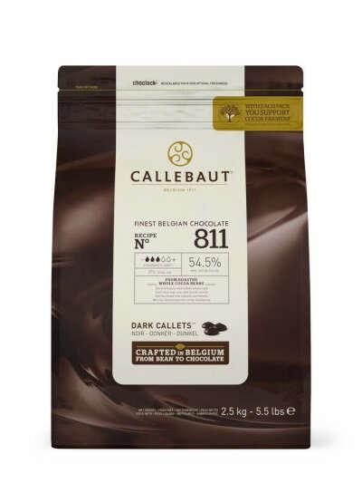 Callebaut - Шоколад темный 54,5% какао (811-RT-U71) 2,5кг, Barry Callebaut