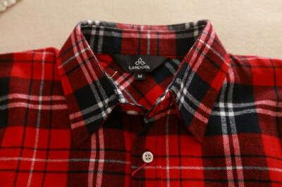 Хлопковая клетчатая рубашка