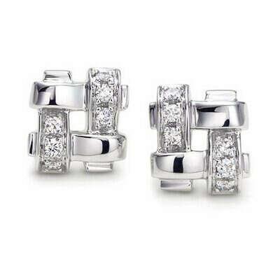 Серьги Tiffany & Co Woven Square earrings [0253]