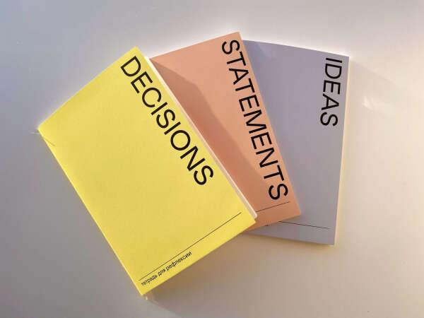 Набор тетрадей для рефлексии (Ideas, Decisions, Statements)