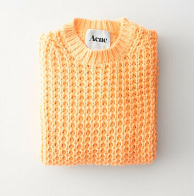 a sweater from Acne