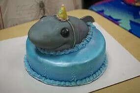 Торт с Ариэль или акулой
