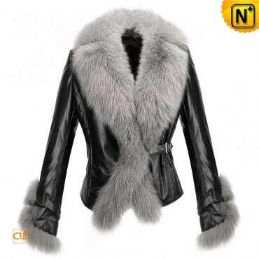 CWMALLS® New York Women Fur Leather Jackets CW611205