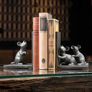 Набор из 2-х держателей для книг Mouse Bookend | Home Concept