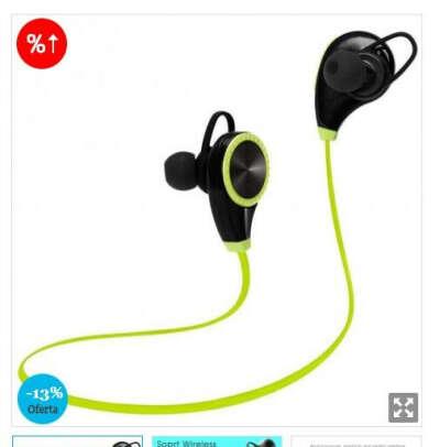 Auriculares bluetooth para deportes, Rq8 Csr Bluetooth 4.0 estéreo, reducción de ruido, tapones para los oídos del silicio aptos, emparejamiento fácil y rápido