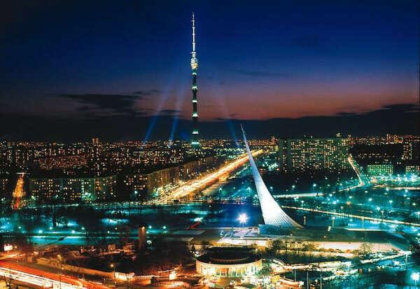Подняться вечером на Останкинскую башню