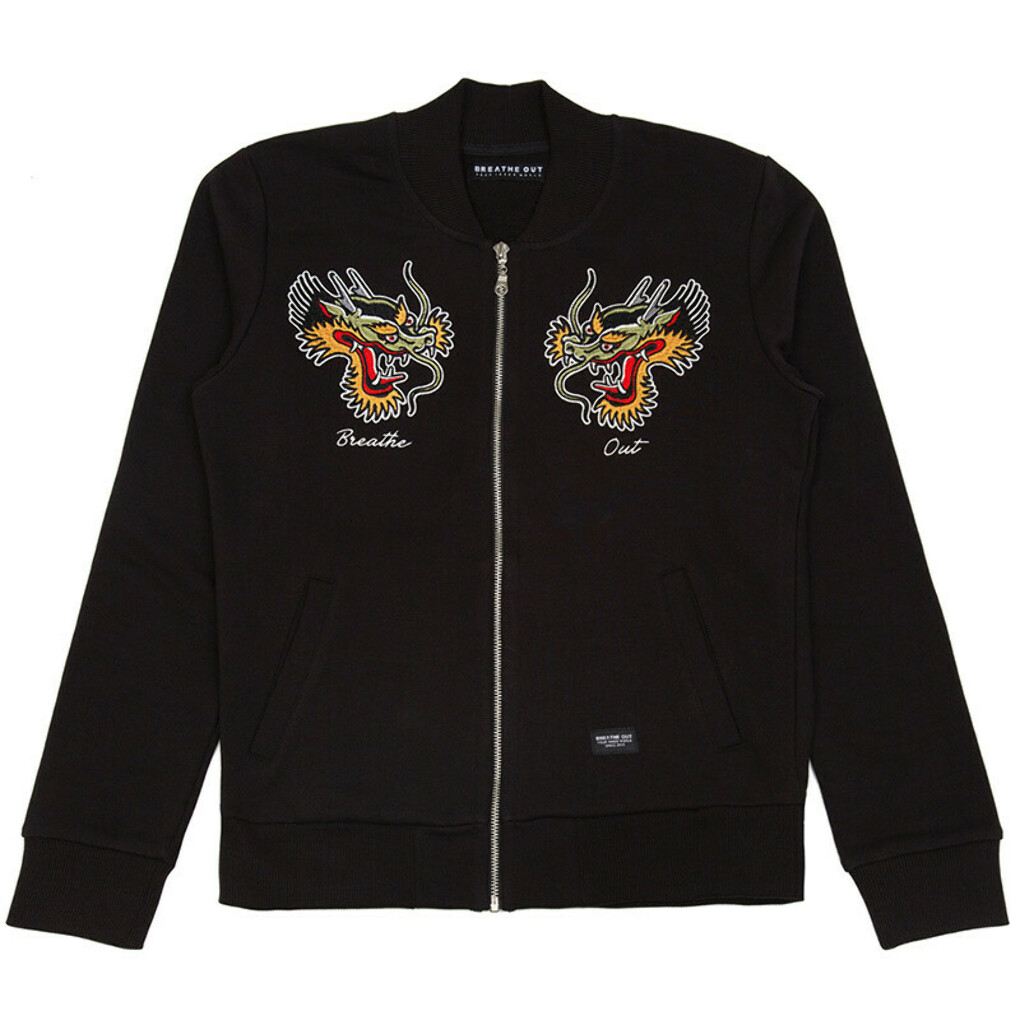 Dragon Head Black Bomber Jacket