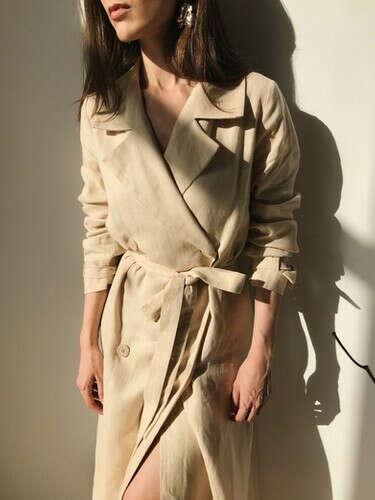 Платье-тренч изо льна | SAMCHUK