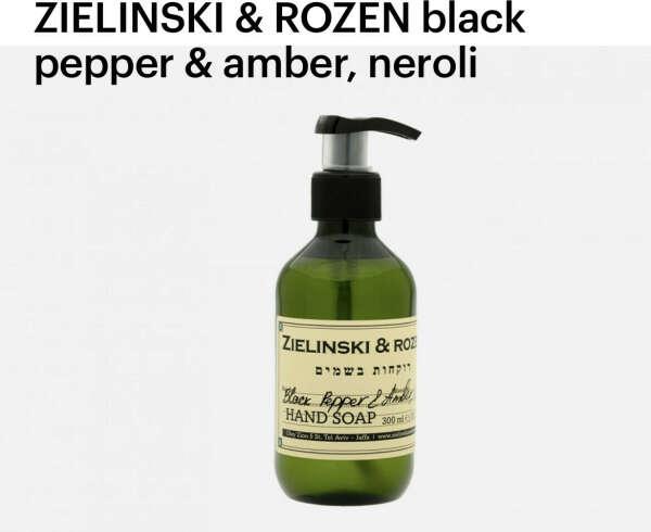 Крем и мыло для рук Zelinski Rozen Black pepper amber neroli