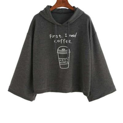 """Футболка """"First, I need coffee"""""""