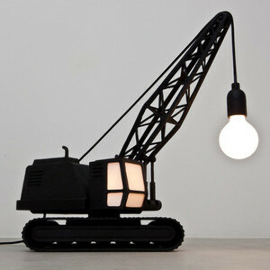 Wrecking Ball Lamp and Crane Lamp   by Studio Job