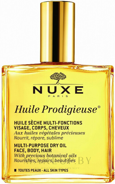 Чудесное сухое масло - Nuxe Huile Prodigieuse Multi-Purpose Care Multi-Usage Dry Oil – купить с доставкой в Минск и по Беларуси | MAKEUP