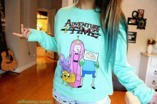 "свитшот ""Adventure time"""