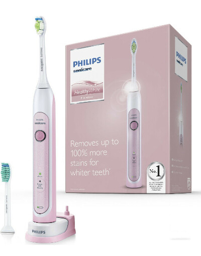 Philips Электрическая зубная щетка Philips Sonicare HealthyWhite HX6762/43, с двумя насадками