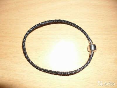Кожаный браслет для шармов