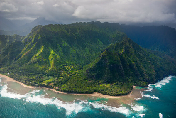 Hawaii hiking, helicopter ride