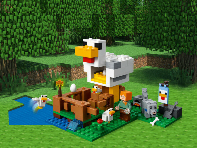 Конструктор Minecraft (Майнкрафт) 21140 Курятник LEGO® (ЛЕГО) - купить в Сети сертифицированных магазинов LEGO, Москва
