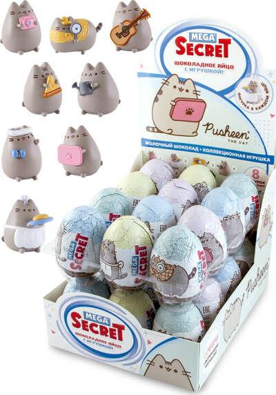 Шоколадное яйцо Pusheen с коллекционной игрушкой