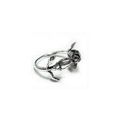 Кольцо Имя Розы из серебра 925, купить серебрянное кольцо с розой по доступной цене с доставкой по Москве и России, стоимость безразмерного серебрянного кольца Имя Розы