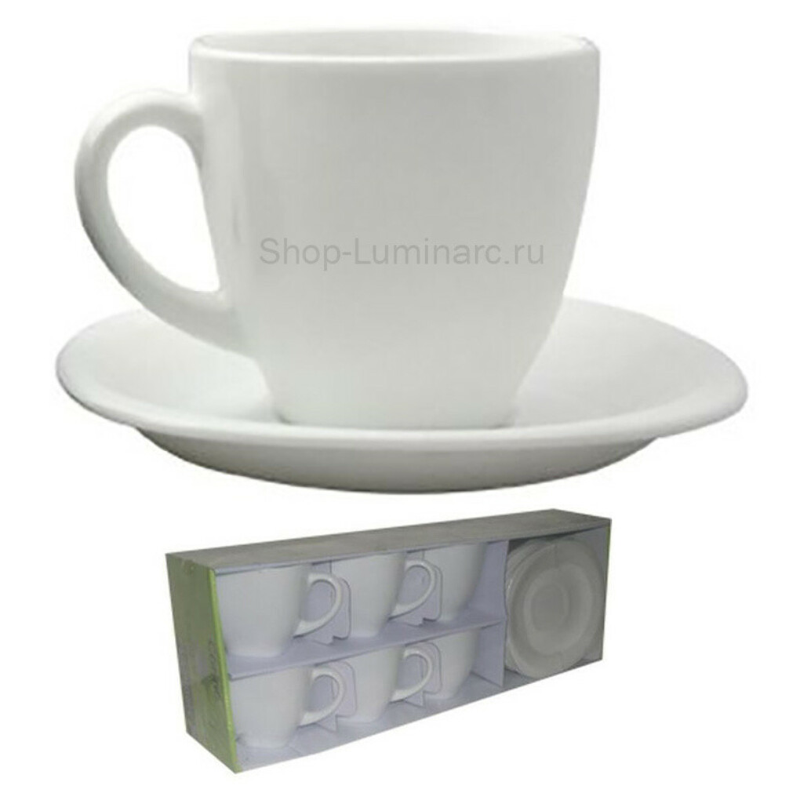 Чайный сервиз Luminarc Carine White Карин Уайт  минималистичный