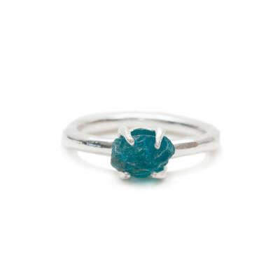 LEIA Ring With Blue Apatite | ALOHA GAIA