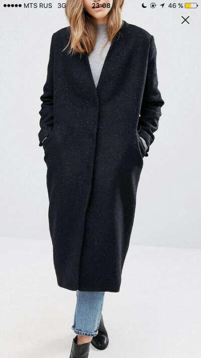 Пальто из шерсти oversize