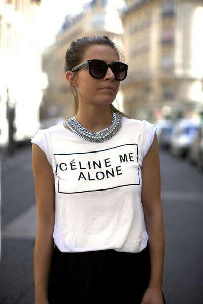 футболка celine me alone