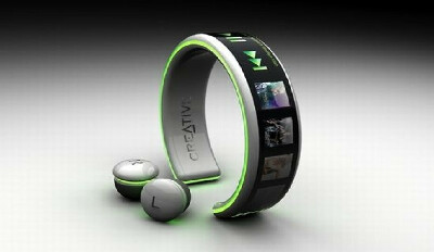 Концептуальный MP3 плеер-браслет Creative