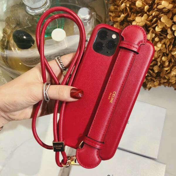 セリーヌ iPhone 11/11pro maxケース 女性向け CELINE iPhone 11 Proカバー レザー ハンドベルト付き ブラント アイフォンxr/xs/xs maxケース