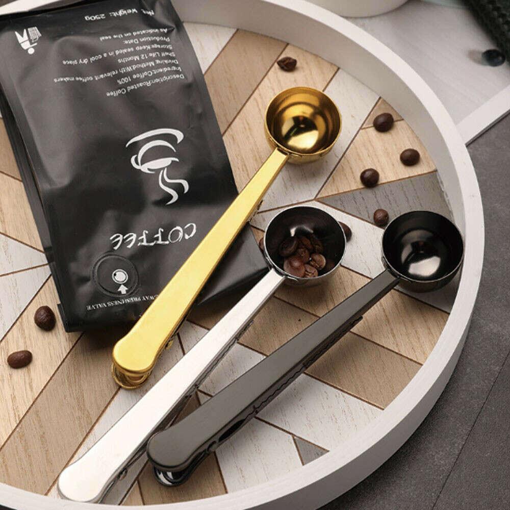359.8руб. 30% СКИДКА|Ложка из нержавеющей стали с зажимом для пакета, измерительные инструменты для сухого чая и кофе|Кофейные совки|   | АлиЭкспресс