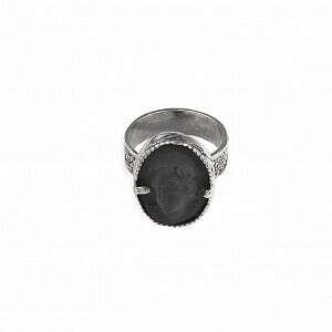 Кольцо из серебра с фарфором - Gem Kingdom