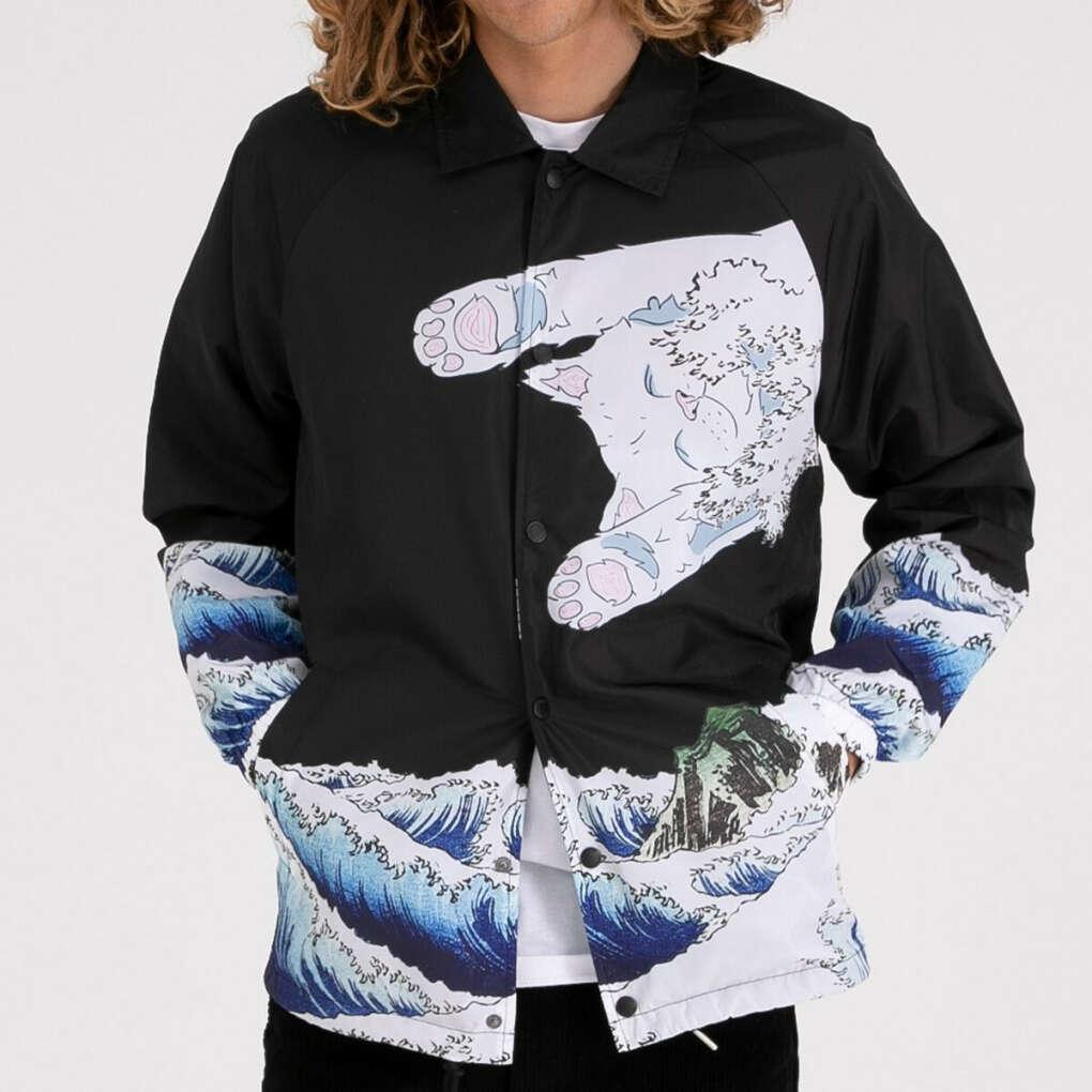 The Greatest Wave Coaches Jacket (Black)