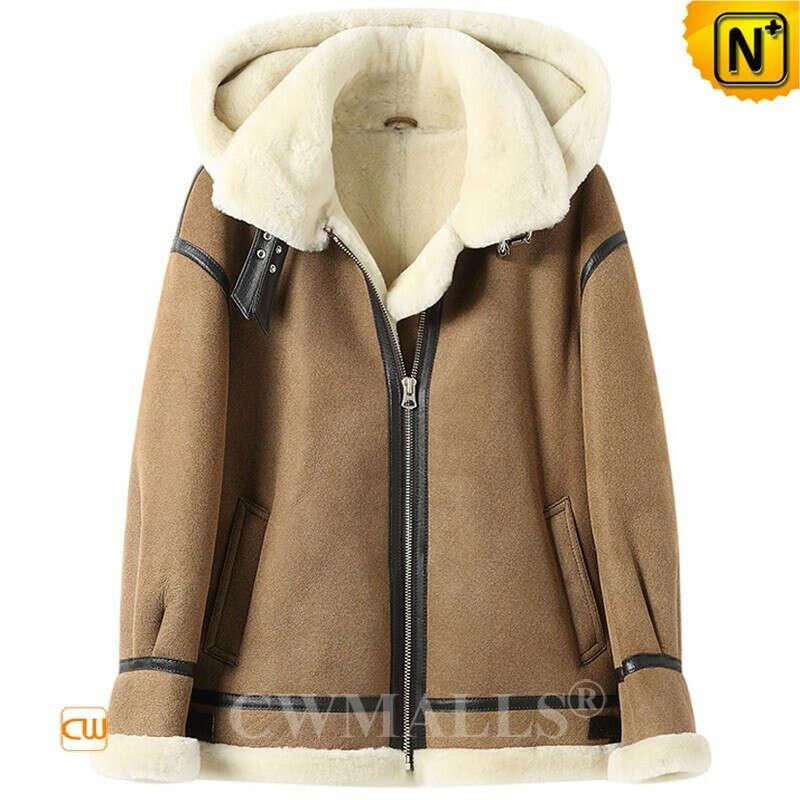 Women Sheepskin Coat | Custom Women Sheepskin B-3 Bomber Jacket CW602020 | CWMALLS®