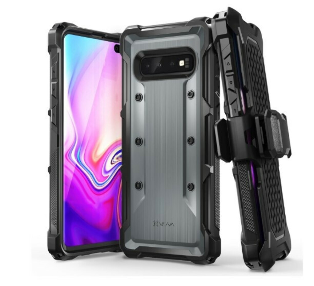 Galaxy S10 Plus Holster Case vArmor – Space Gray / Black