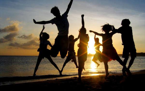 Счастливый день с друзьями